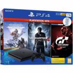 Herná konzola Sony PlayStation 4 1 TB + Gran Turismo Sport + Uncharted 4 + Horizon Zero Dawn (PS719318804)