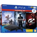 Konzole PlayStation 4 Slim 1TB + Uncharted 4, Horizon: Zero Dawn CE, Gran Turismo Sport pre konzolu Playstation 4