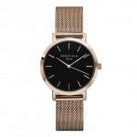 Rosefield The Tribeca Rose Gold Black