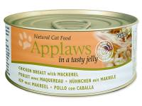 Konzerva APPLAWS Cat Jelly Chicken & Mackerel 70g