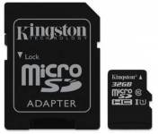 Kingston 32GB microSDHC Class 10 UHS-I (r80MB/s, w10MB/s) + adaptér